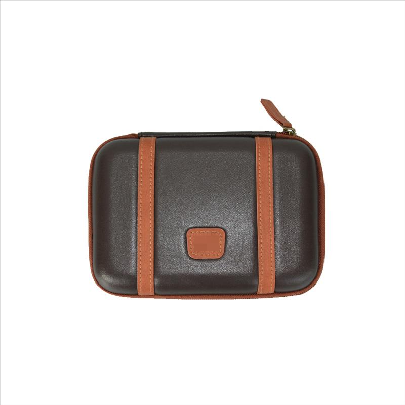 New 3DS Case (Brown) - EVA Hard Compact Travel Protective Carrying Bag Pouch Cover Zippered Sleeve for Nintendo DSi NDS NDSi / DS Lite DSL NDSL / New 3DS and 3DS Gaming Console [Nintendo 3DS]