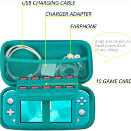 Travel Organizer Eva Molded Hard Video Games Console Zip Carry Bags For Nintendo Switch Lite Bags