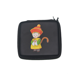 Custom 2DS XL/LL Traveling Zip Carrying Case with Wrist Strap