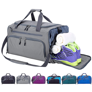 Wet Pocket & Shoes Compartment Travel Duffel Bag Men Women GYM bag