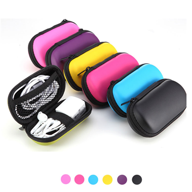 Waterproof Durable Zip Lock Travel Small Hard Shell Molded Electronic Tools Earphone Eva Packaging Bag